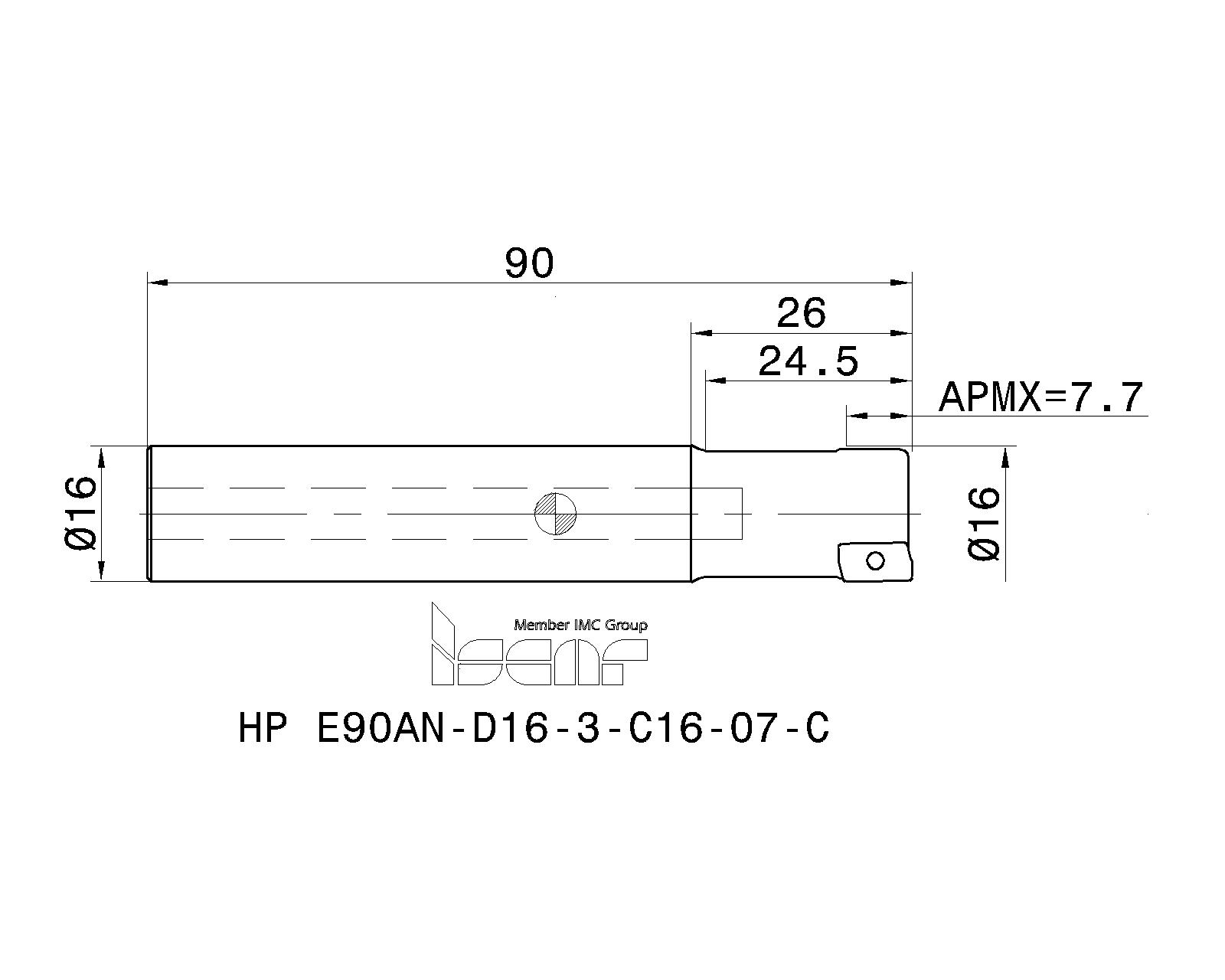 ISCAR Cutting Tools - Metal Working Tools - HP E90AN-07 : 3103371