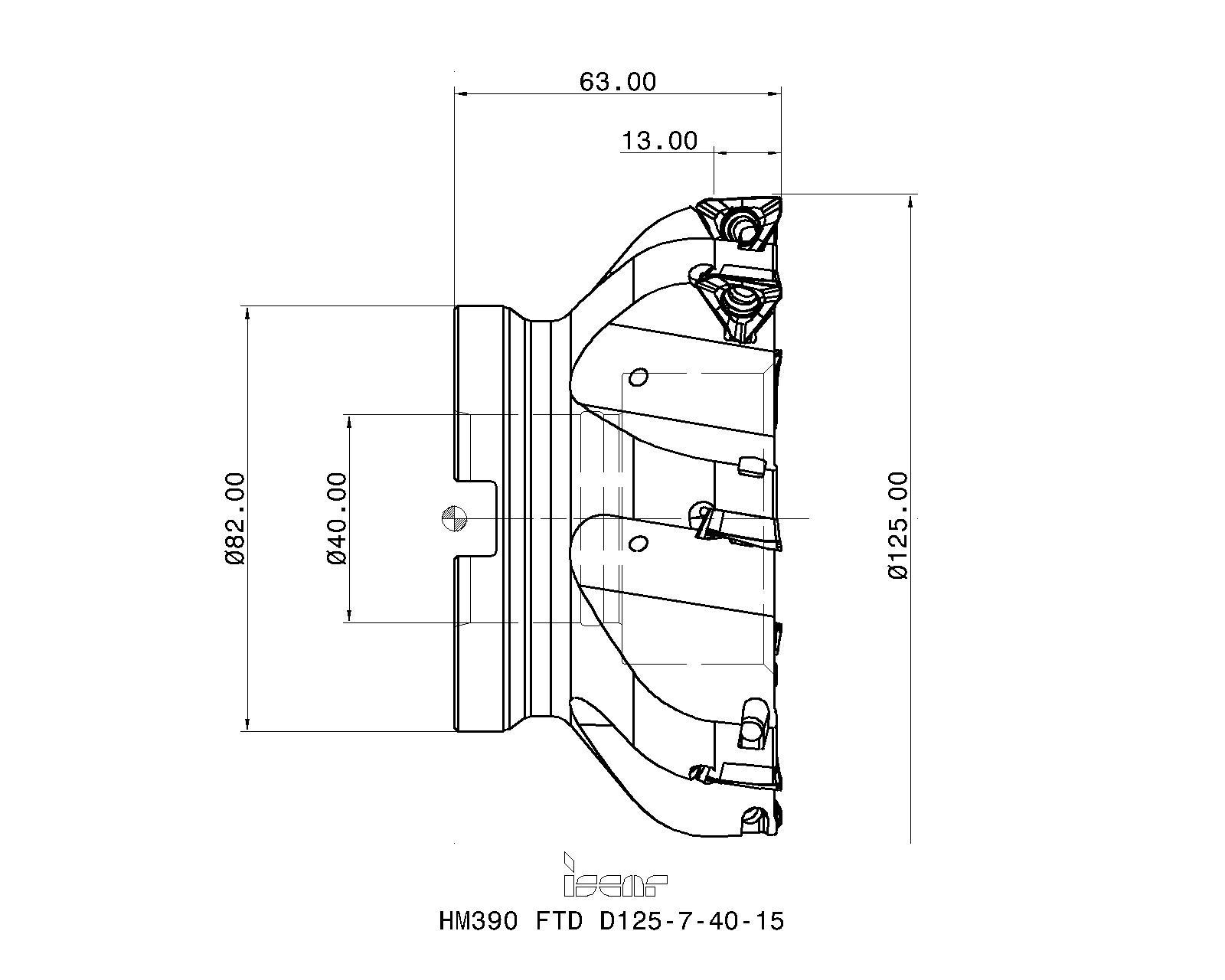 PROMAT  Bohrnutenfräser DIN 327 D Typ N Nenn-D 2 mm HSS-Co8 TiCN DIN 1835 B Sch