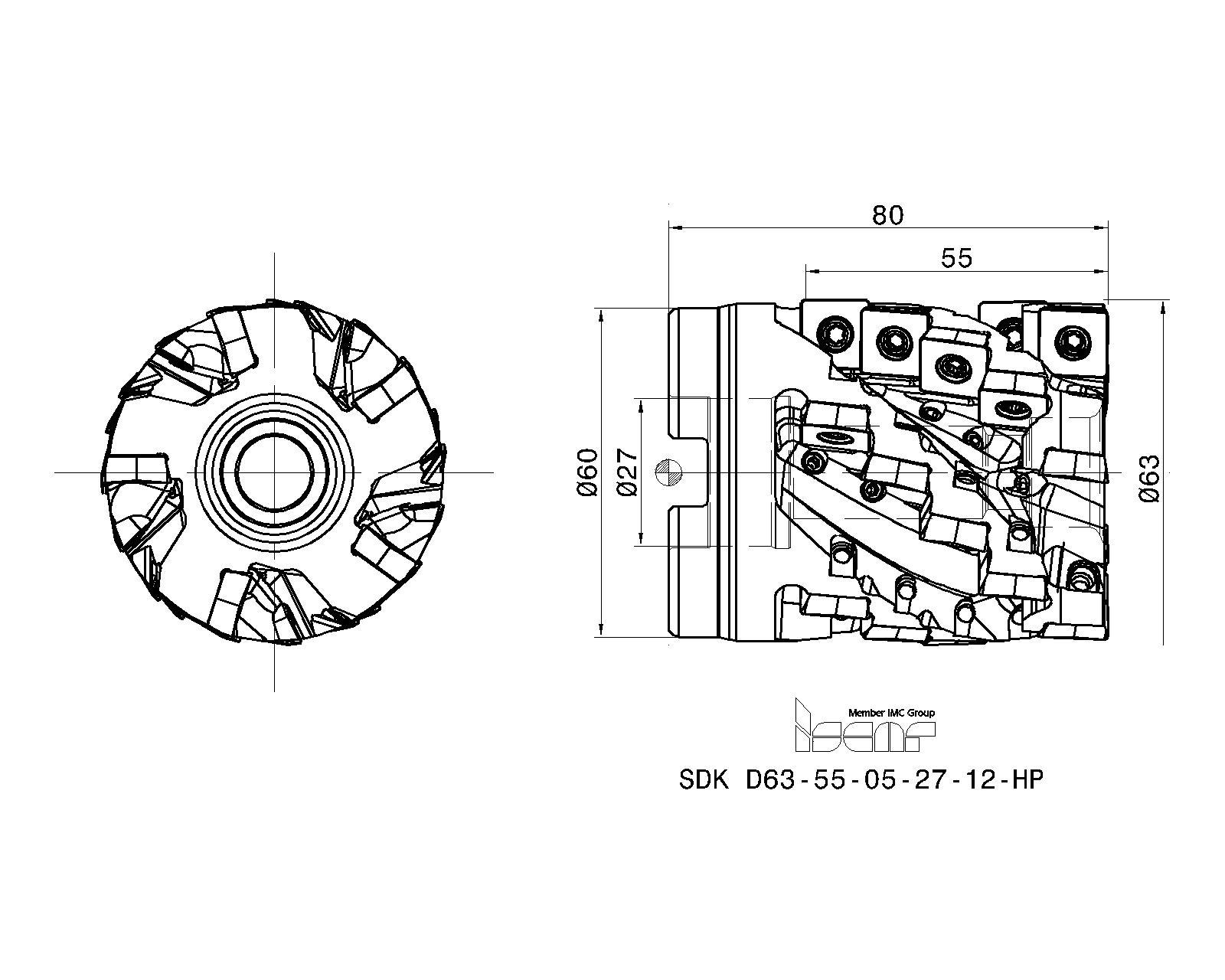 ISCAR Cutting Tools - Metal Working Tools - SDK-12-C/HP