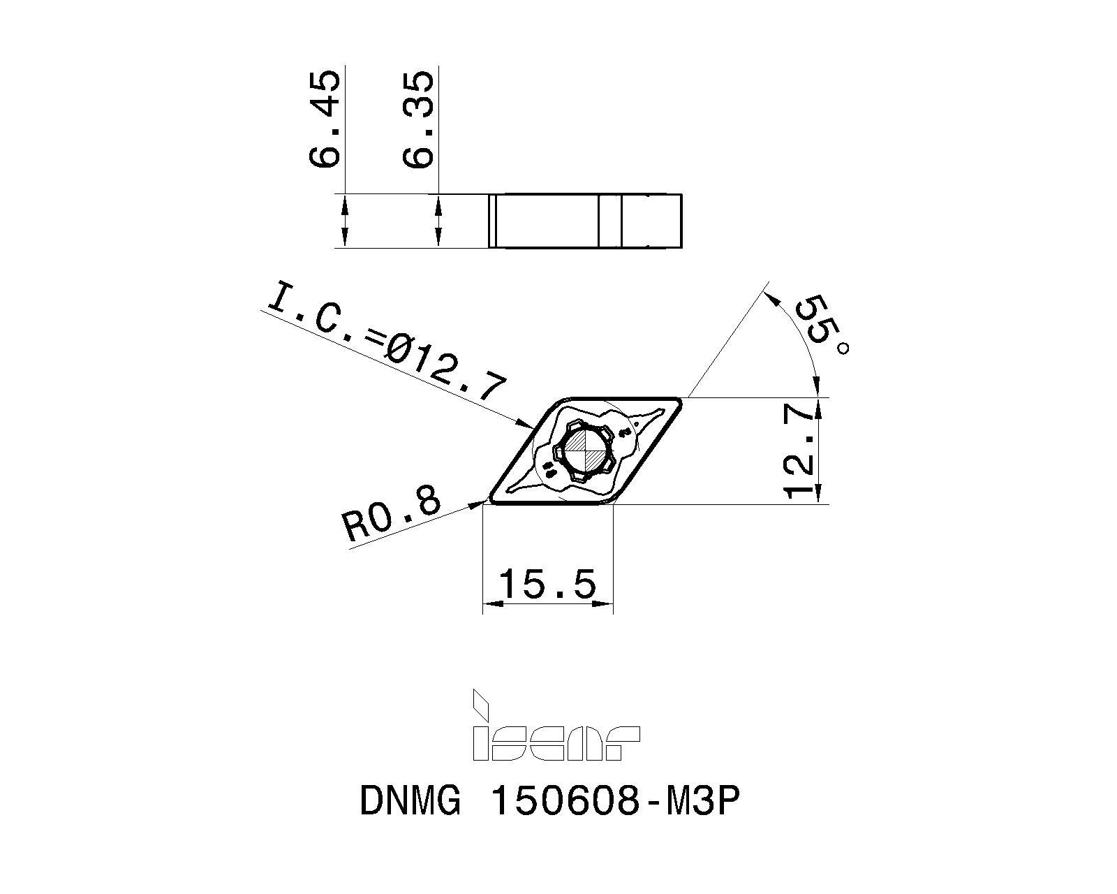 LOC860 DNMG 150608 MT TT5080 Details about  /Ingersoll Carbide Insert DNMG442MT