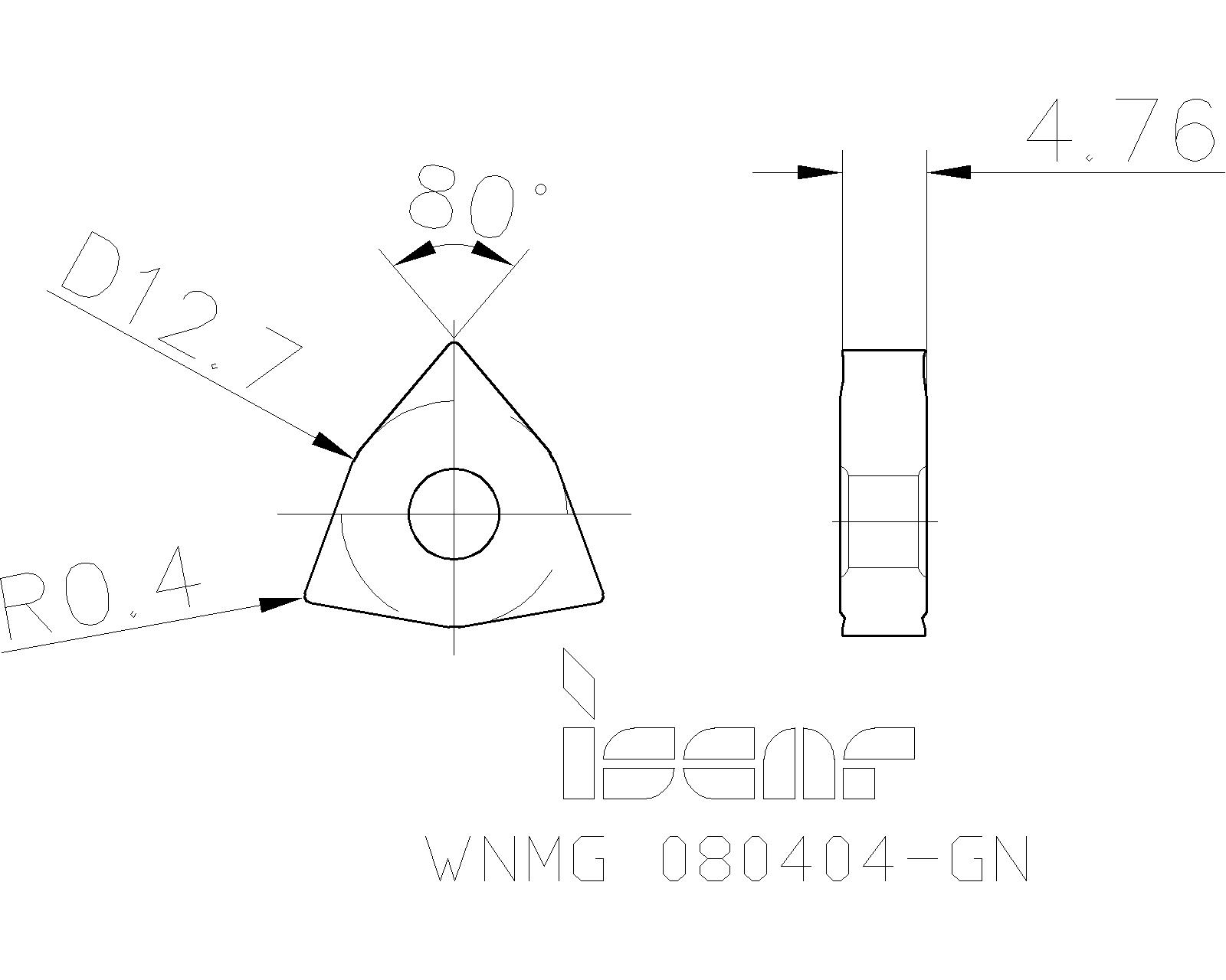 WNMG431 MS WNMG 080404 R0.4 Lathe Carbide insert Universal material For MWLNR
