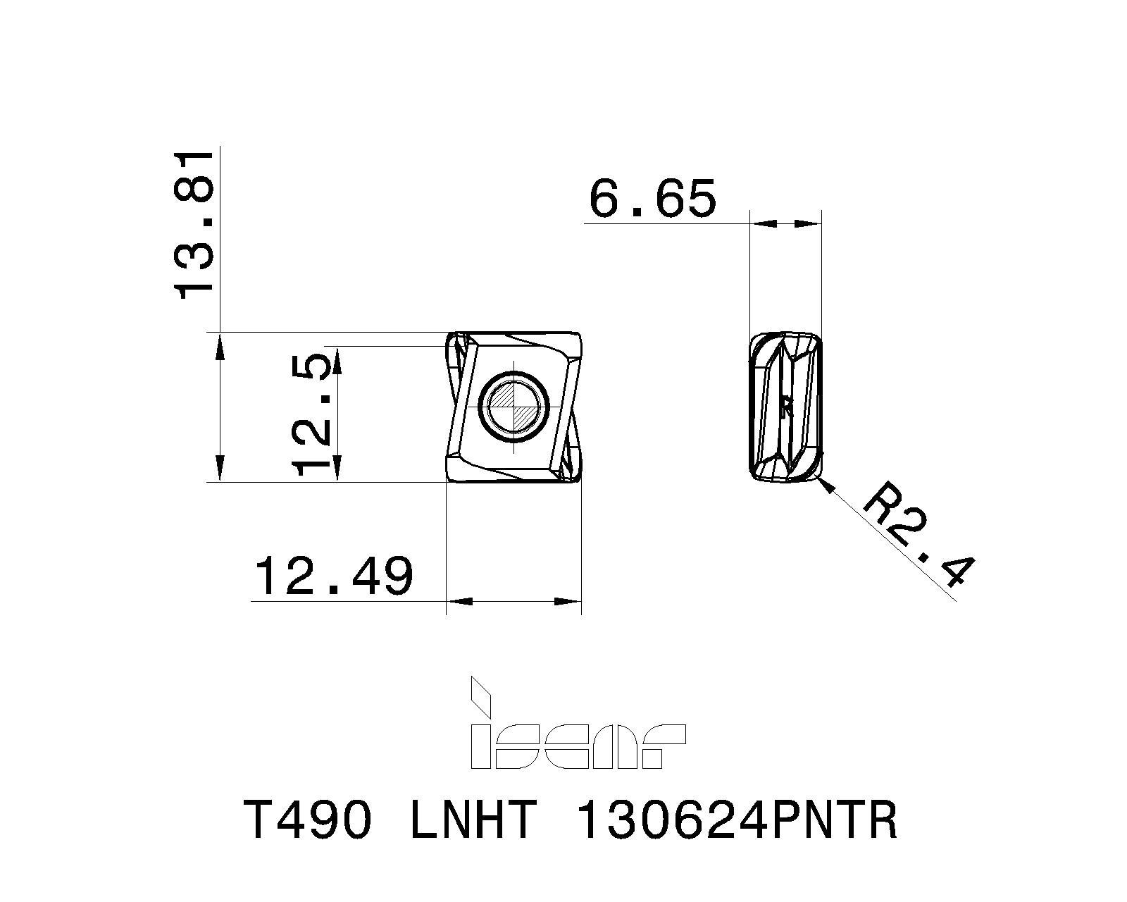T490 LNHT 130624PNTR IC810 ISCAR INSERT