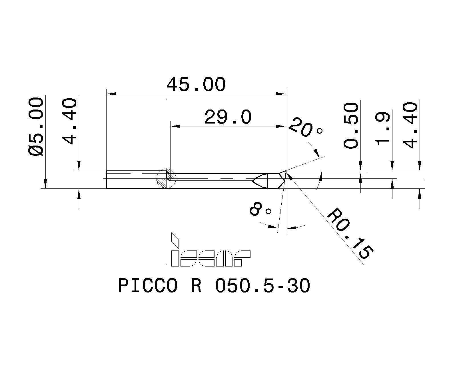 PICCO R 050.5-10 IC228 ISCAR