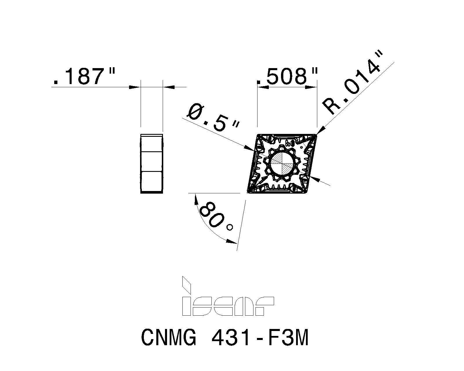 CNMG 431 SF IC6015 ISCAR *** 10 INSERTS *** FACTORY PACK ***